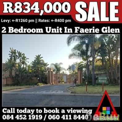 Pretoria East Homes for Rentals.  FOR SALE ! R834, Pretoria, Gauteng